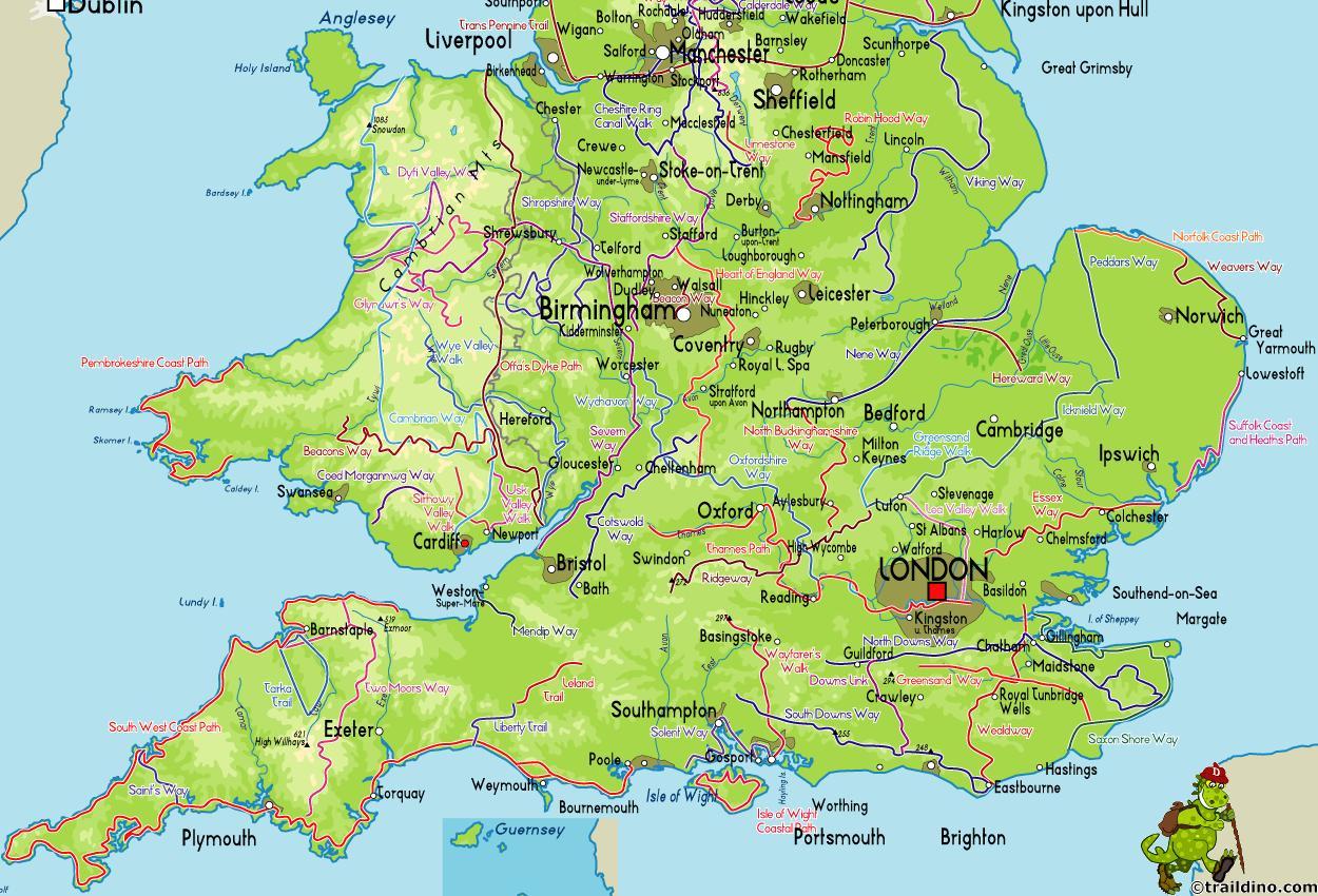 kart over england Kart over sør England   Kart over sør NORGE (Nord Europa   Europa) kart over england