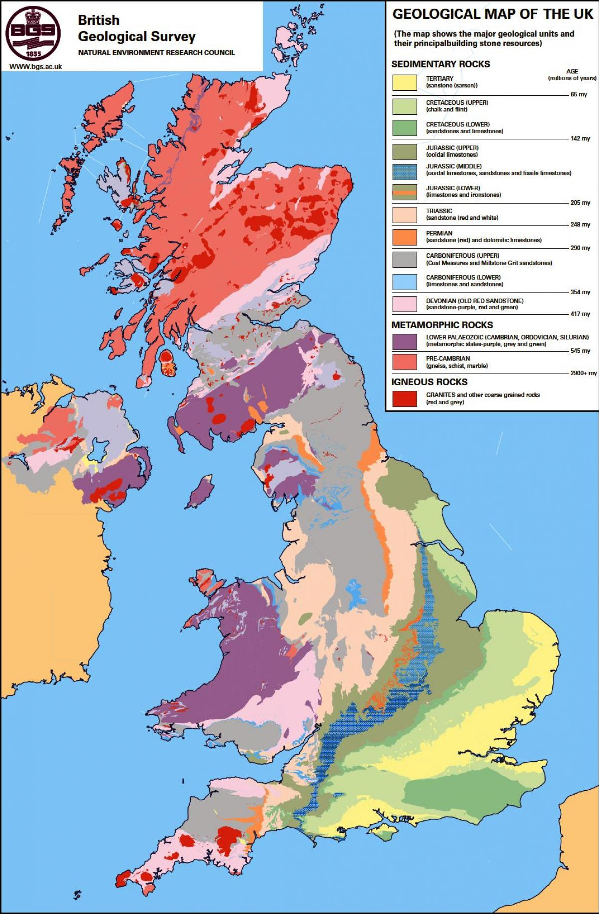 Geologisk Kart Over Norge Geologisk Kart Over Storbritannia