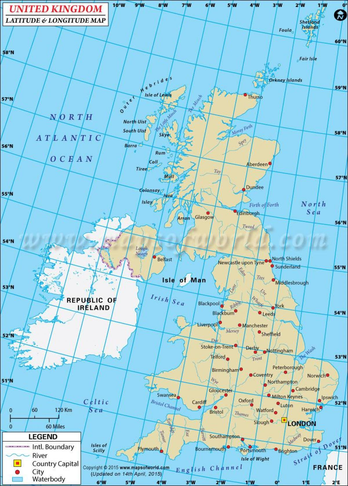 kart koordinater Kart koordinater med NORGE   Sykkel maps STORBRITANNIA (Northern  kart koordinater