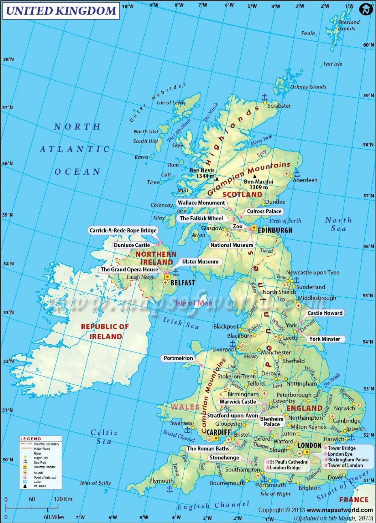 kart over storbritannia STORBRITANNIA atlas kart   Kart over NORGE atlas (Northern Europe  kart over storbritannia
