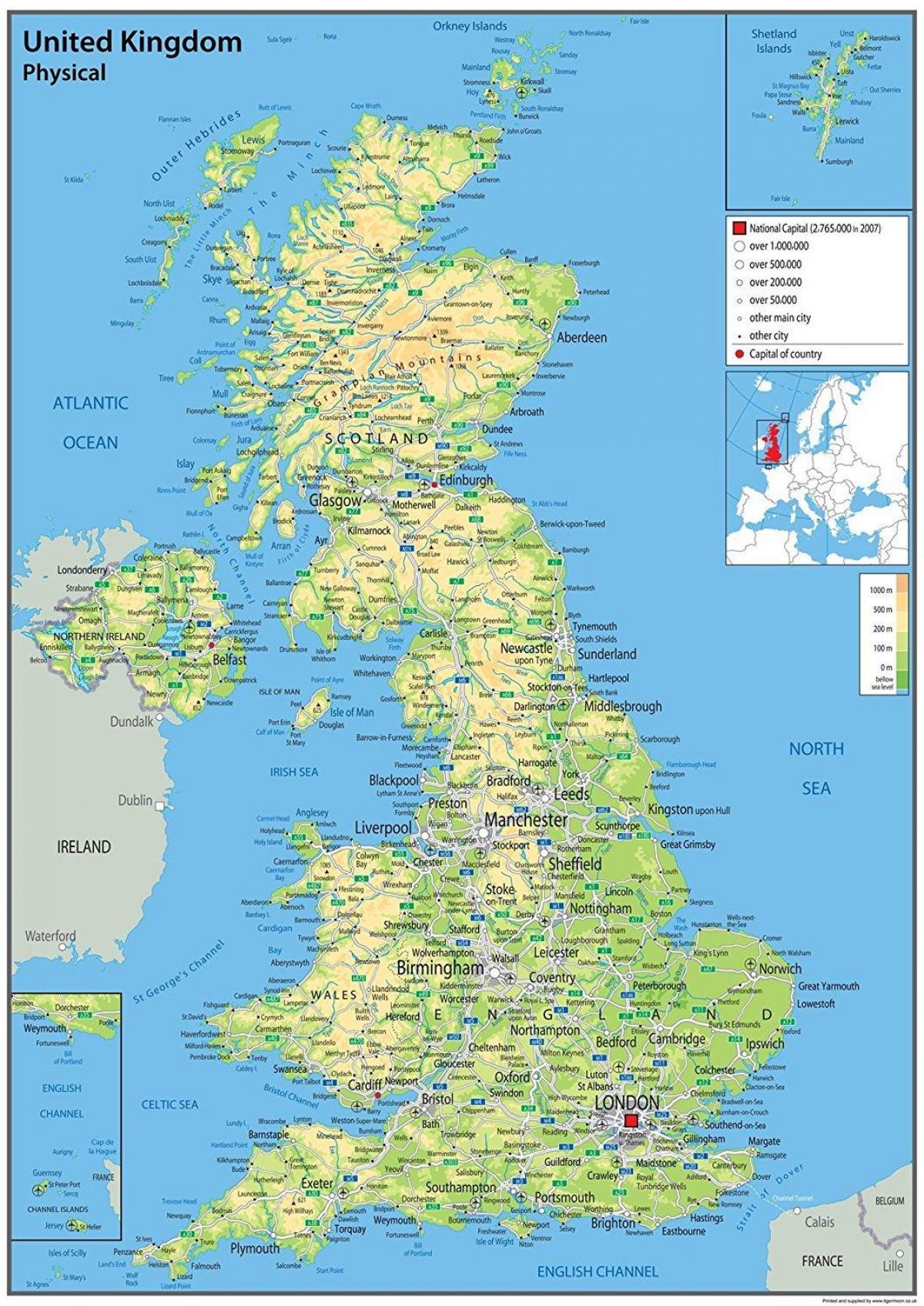 kart kyst STORBRITANNIA kyst kart Stort kart over STORBRITANNIA for å skrive  kart kyst
